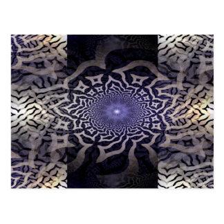 APOPHYSIS fractal decor | black violet Postcard
