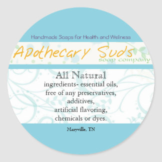 Apothecary Suds Stickers II