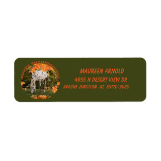 Appaloosa Thanksgiving 2 Return Address Label