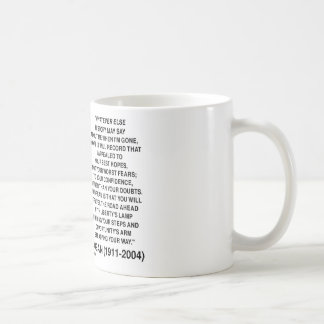 Appealed To Your Best Hopes Not Your Worst Fears Basic White Mug