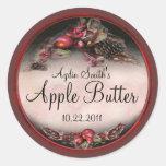 Apple Canning Label 2 Round Sticker