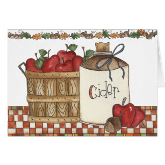 apple cider and apple picking greeting card
