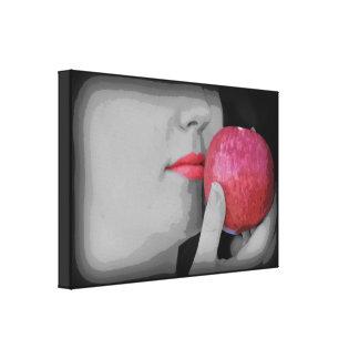 Apple Lips Canvas Print