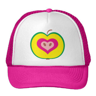 Apple with love heart cap