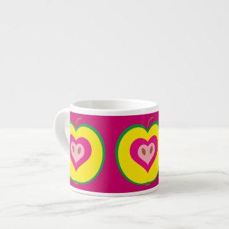 Apple with Love Heart Mug Espresso Mug