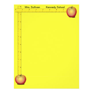 Apples and Rulers Teachers Paper (Sunshine Yellow) 21.5 Cm X 28 Cm Flyer