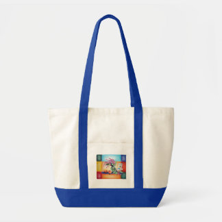 Apples Teacups and Flowers Tote Impulse Tote Bag