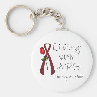 APS Awareness Items Basic Round Button Key Ring