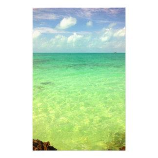 Aqua Green Ocean   Turks and Caicos Photo 14 Cm X 21.5 Cm Flyer