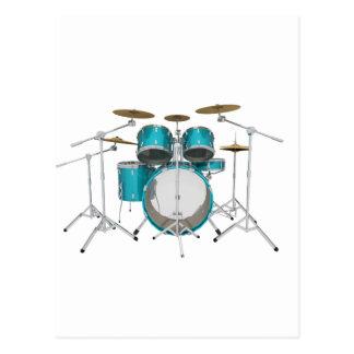 Aqua / Turquoise Drum Kit: Postcard