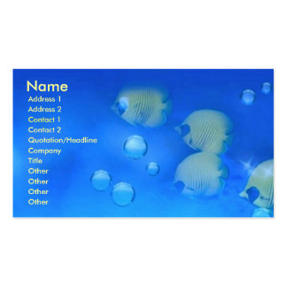Aquarium Fishes Pack Of Standard Business Cards