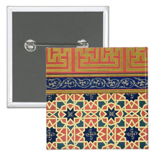 Arabic decorative designs (colour litho) 15 cm square badge