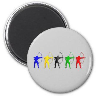 Archery Summer Games   Archer Sports 6 Cm Round Magnet