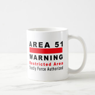 Area 51 Warning Basic White Mug