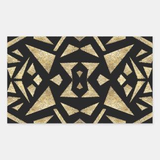 Ari's Gold and Black Rectangular Sticker