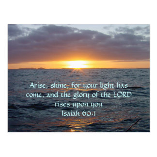 Arise Shine - Isaiah 60:1 Postcard