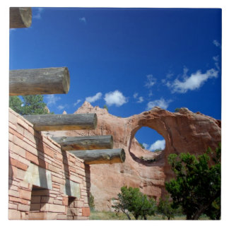 Arizona, Window Rock. Capital of the Navajo Large Square Tile