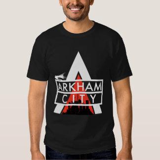 Arkham City Logo White Tees
