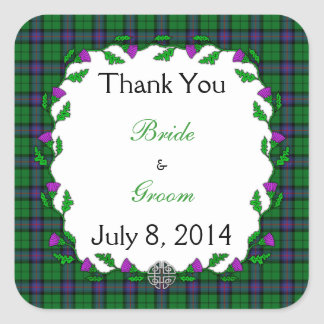 Armstrong Celtic Wedding Thank You Square Sticker