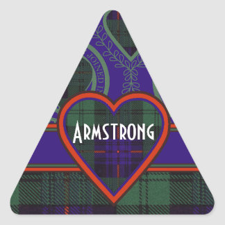 Armstrong clan Plaid Scottish tartan Triangle Sticker
