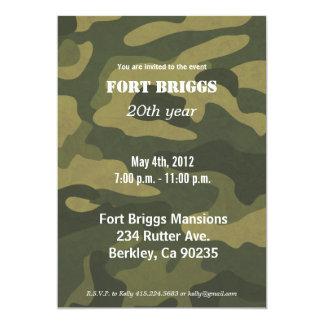 Army Camoflauge 13 Cm X 18 Cm Invitation Card