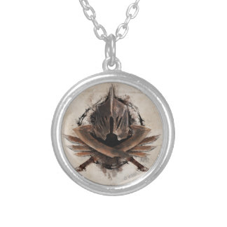 Army Of Orcs Weaponry Round Pendant Necklace