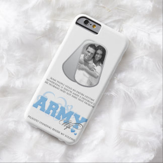 Army Wife Custom Photo in Dog Tags Barely There iPhone 6 Case