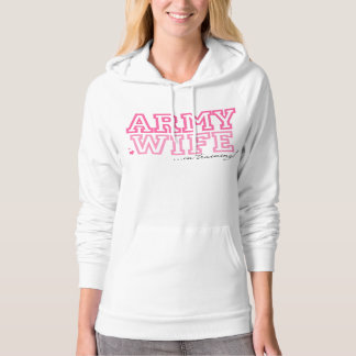 Army Wife in training Hooded Pullovers