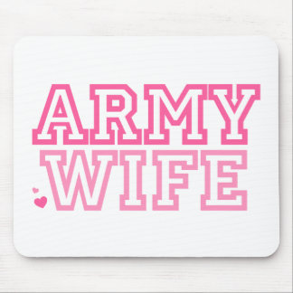 Army Wife (pink) Mouse Pad