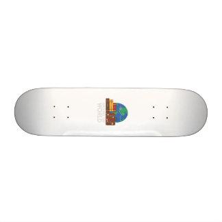 Around the world 21.6 cm skateboard deck