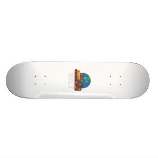 Around the world skateboard