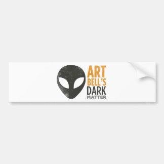 Art Bell's Dark Matter (Alien Head) Bumper Sticker