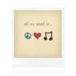 art-cute-inspirational-love-music-Favim.com-189041 Postcard