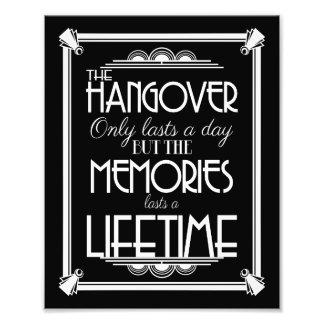Art deco hangover party sign wedding sign, navy art photo