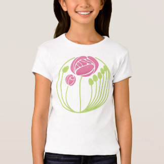Art Nouveau Rose in the Style of Rennie Mackintosh T Shirts