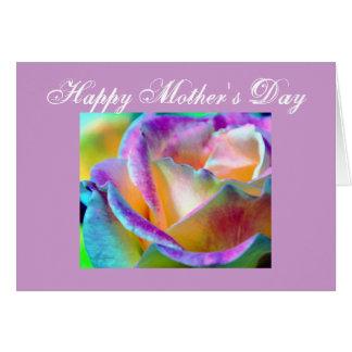 Artful Colorful Rose Card
