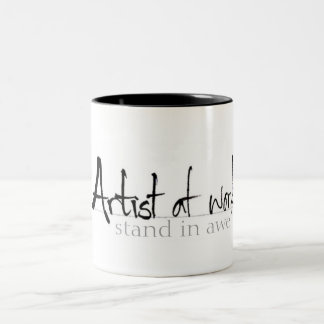 Artist at work Two-Tone mug