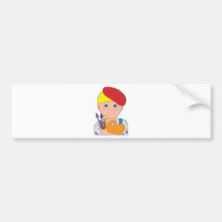 Artist Child Boy Bumper Sticker
