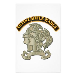 Artist Rifle Badge Stationery Design