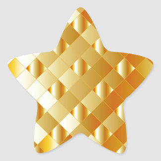 Artistic gold grid star sticker