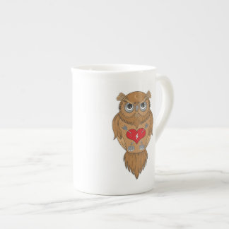 Artistic Wise Owl Bone China Mug