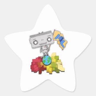 Artists 4 Life Robot Star Sticker