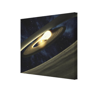 Artist's concept showing a lump of material stretched canvas prints