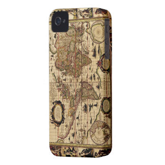 Arty Vintage 1635 Old World Map iPhone 4 Case
