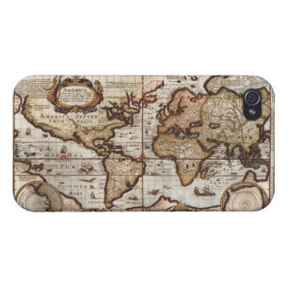 Arty Vintage Old World Map iPhone 4 Savvy Case iPhone 4/4S Cases
