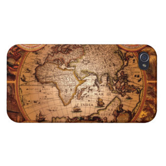 Arty Vintage Old World Map iPhone 4 Savvy Case iPhone 4/4S Cover