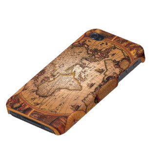Arty Vintage Old World Map iPhone 4 Savvy Case iPhone 4 Covers