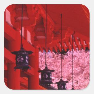 Asia, Japan, Kyoto, Heian shrine in spring. Square Sticker
