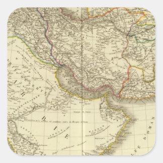 Asiatic Turkey, Persia, Arabia, Kabul Square Sticker