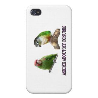 Ask Me About My Conures Cases For iPhone 4